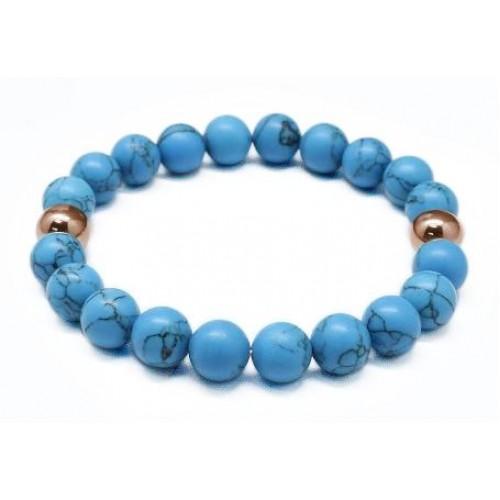 Inspirit Blue And Rose Gold Bracelet (BBD-02)