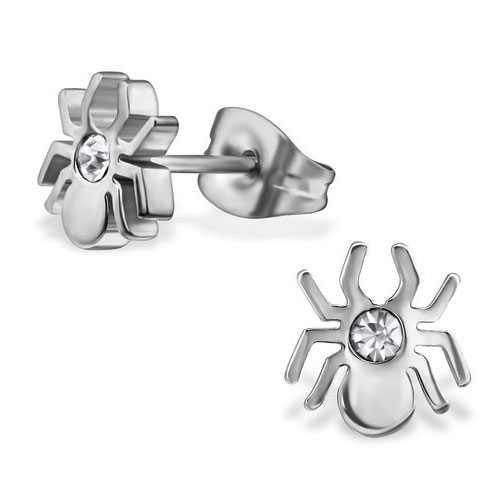 Stainless Steel Spider Earstuds (SES555)