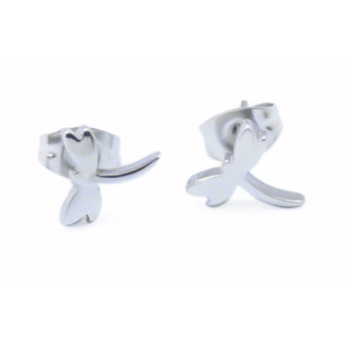 Stainless Steel Dragon Fly Earstuds (SES556)
