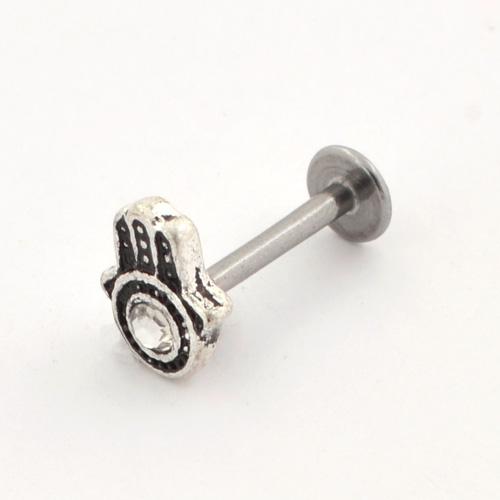 Surgical Steel Ornate Design Labret (PFJR766)