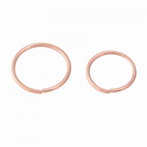 Rose Gold PVD Coated Seamless Steel Twist Rings (PFRGSR*)