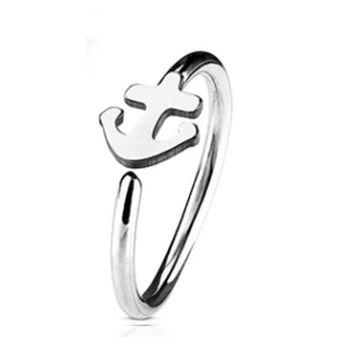 Steel Nose Ring With Fixed Anchor (NR269)