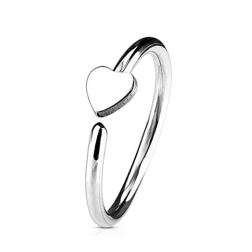 Steel Nose Ring With Fixed Heart (NR270)