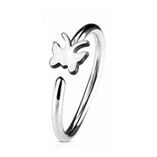 Steel Nose Ring With Fixed Butterfly (NR271)
