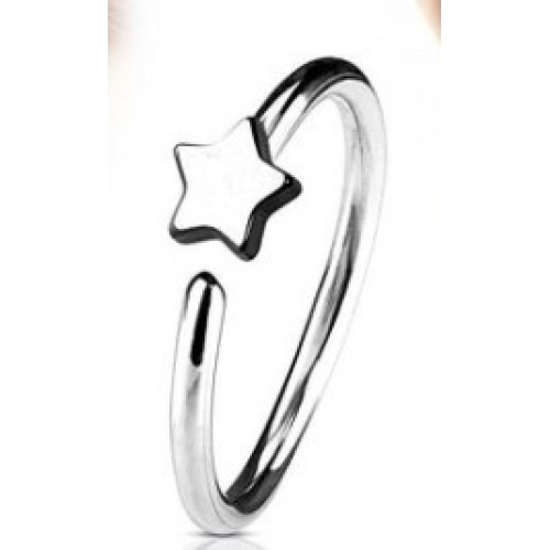 Steel Nose Ring With Fixed Star (NR273)