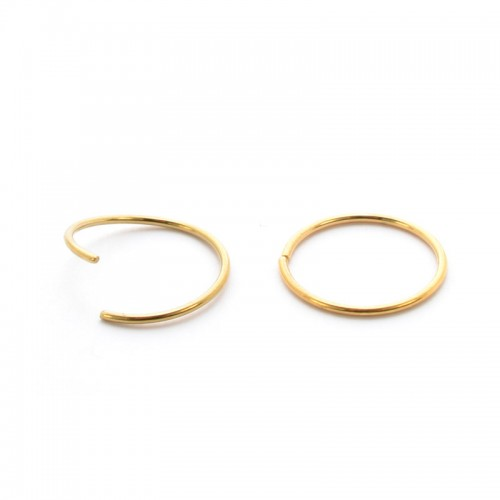 Gold PVD Coated Seamless Steel Twist Rings (PFGSR*)