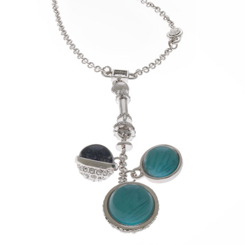 Herspirit Fashion Charmed Blue Sphere Necklace (HSN397-A)