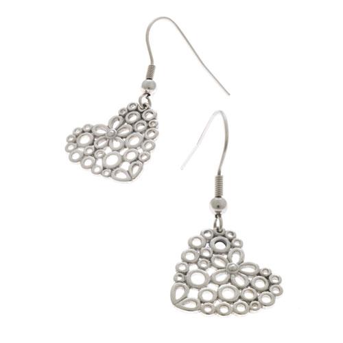 Herspirit Steel Daisy Heart Earrings (HSE160)