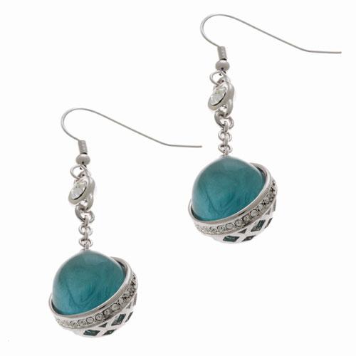 Herspirit Fashion Charmed Blue Sphere Earrings (HSE398-A)