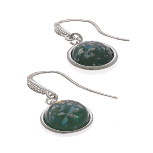 Herspirit Fashion-Iconic Round Opal Effect Drop Earrings (HSE407-A)