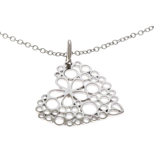 Herspirit Steel Daisy Heart Pendant with Chain (HSN102)