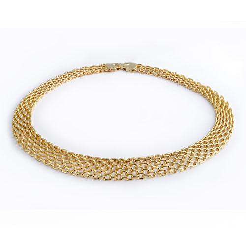 Herspirit Fashion Mesh Style Necklace (HSN131-G)