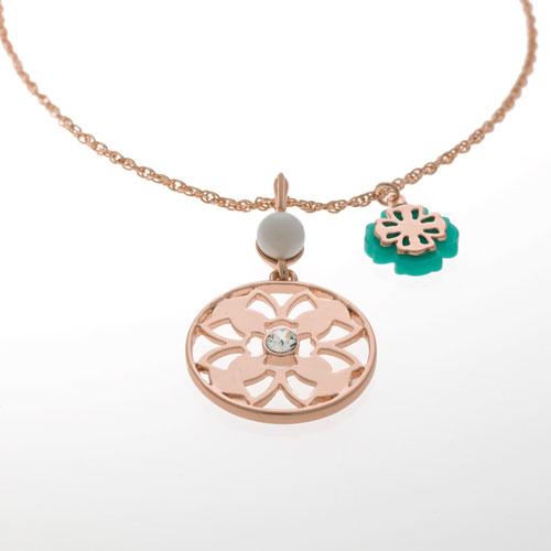 Herspirit Rose Gold Flower Necklace (HSN482-B)