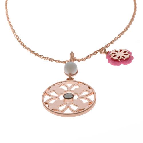 Herspirit Rose Gold Flower Necklace (HSN482-P)