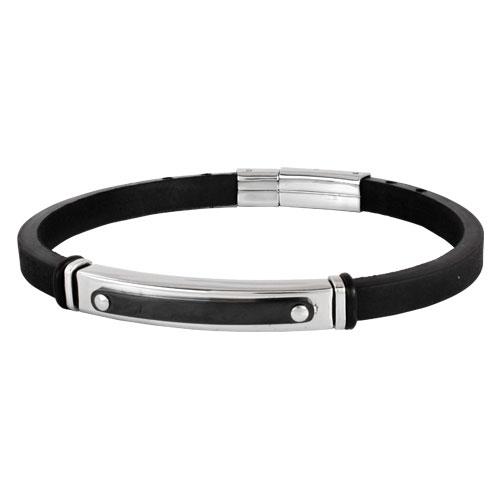 Inspirit Rubber and Steel Bracelet (ISB-N-01)