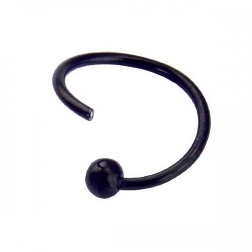 Black PVD Coated Steel Fixed Ball Seamless Twist BCR (PFBSR*-FB)