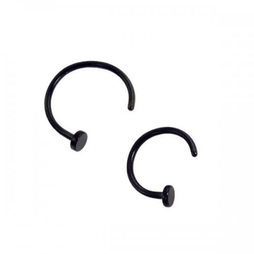 Black PVD Coated Steel Nose Rings (NRBS/NRBL)