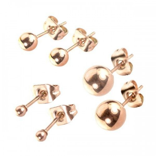 Stainless Steel Ear Studs Rose Gold (ESRG**)