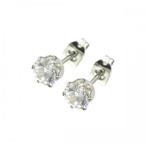 Stainless Steel Jewelled Ear Studs (ESSJ)