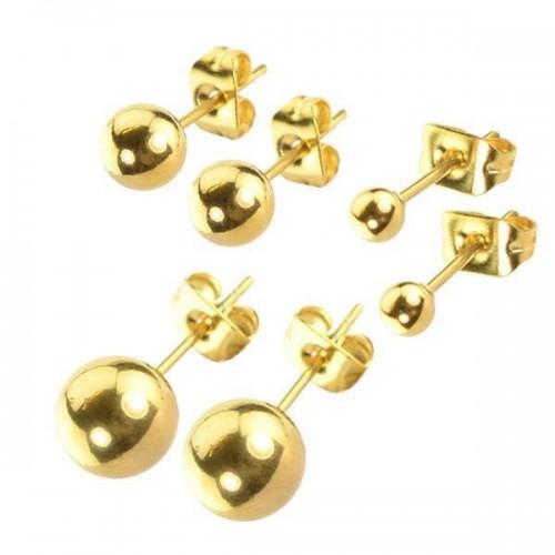 Stainless Steel Ear Studs Gold (ESGP**)