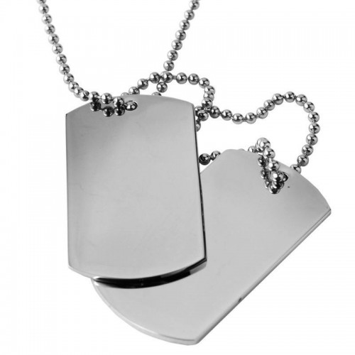 Inspirit Stainless Steel Dog Tag Pendant & Chain (ISP625)