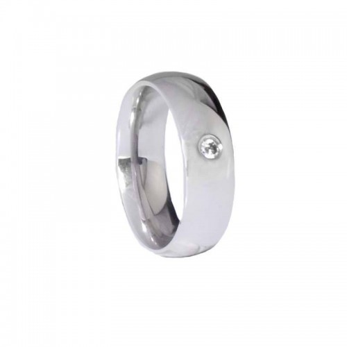 Jewelled Stainless Steel Ring (HSRJ145)