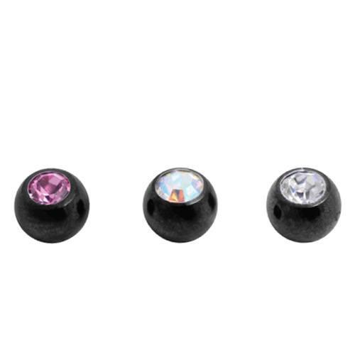 Titanium Nightcote Jewelled Balls (NCT85)