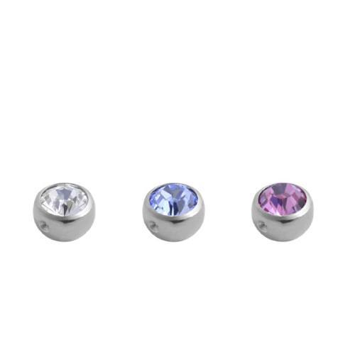 High Polish Titanium Jewelled Captive Balls (THP61*)