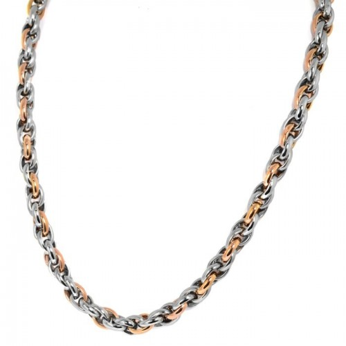 Inspirit Stainless Steel & Rose Gold Ion Plated Necklace (ISN651)